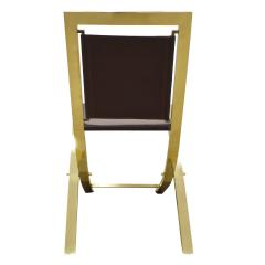 Gabriella Crespi Gabriella Crespi Pair of Chairs in Polished Brass and Leather 1970s Signed  - 1683080