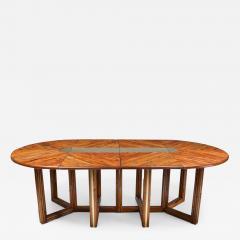 Gabriella Crespi Gabriella Crespi Style Adjustable Dining Table in Rattan 1970s - 1250854