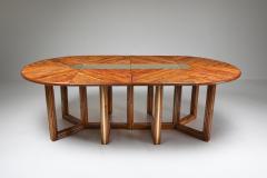 Gabriella Crespi Gabriella Crespi Style Adjustable Dining Table in Rattan 1970s - 1259526