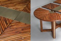 Gabriella Crespi Gabriella Crespi Style Adjustable Dining Table in Rattan 1970s - 1259529
