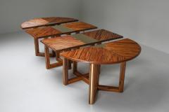 Gabriella Crespi Gabriella Crespi Style Adjustable Dining Table in Rattan 1970s - 1259541