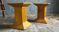 Gabriella Crespi Gabriella Crespi style pair of bamboo side or coffee table - 1186909