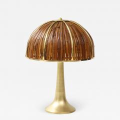 Gabriella Crespi Large Bamboo and Brass Fungo Table Lamp - 1927039