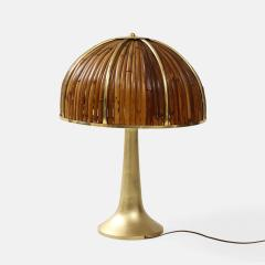 Gabriella Crespi Large Bamboo and Brass Fungo Table Lamp - 1930799