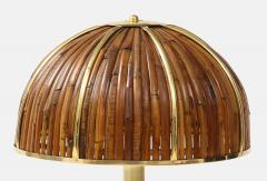 Gabriella Crespi Large Bamboo and Brass Fungo Table Lamp - 1930800