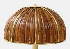 Gabriella Crespi Large Bamboo and Brass Fungo Table Lamp - 1930801