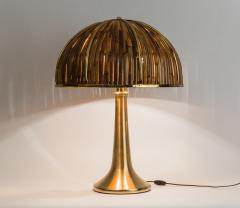 Gabriella Crespi Large Bamboo and Brass Fungo Table Lamp - 1930816
