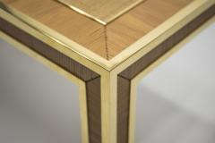 Gabriella Crespi Mid century brass and bamboo dining table style of Crespi 1970s - 994438