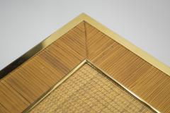 Gabriella Crespi Mid century brass and bamboo dining table style of Crespi 1970s - 994439