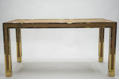 Gabriella Crespi Mid century brass and bamboo dining table style of Crespi 1970s - 994441
