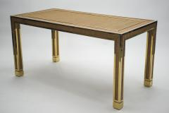 Gabriella Crespi Mid century brass and bamboo dining table style of Crespi 1970s - 994444