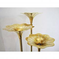 Gabriella Crespi Pair of Mid Century Modern Brass Floor Lamps Gabriella Crespi Style Italy 1960s - 1573120