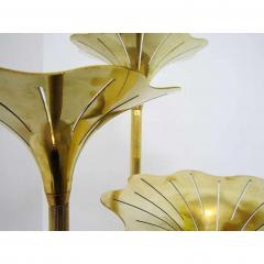 Gabriella Crespi Pair of Mid Century Modern Brass Floor Lamps Gabriella Crespi Style Italy 1960s - 1573122