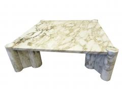 Gae Aulenti Italian Modern Carrera Marble Jumbo Low Table - 770911