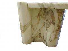 Gae Aulenti Italian Modern Carrera Marble Jumbo Low Table - 770912