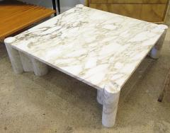 Gae Aulenti Italian Modern Carrera Marble Jumbo Low Table - 770913