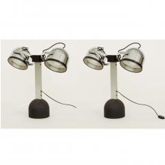 Gae Aulenti Pair of Gae Aulenti Livio Castiglioni Trepi Table Lamps for Stilnovo 1972 - 1290643