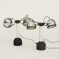 Gae Aulenti Pair of Gae Aulenti Livio Castiglioni Trepi Table Lamps for Stilnovo 1972 - 1290647