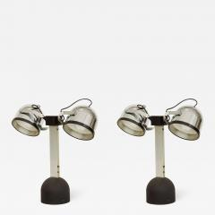 Gae Aulenti Pair of Gae Aulenti Livio Castiglioni Trepi Table Lamps for Stilnovo 1972 - 1291750