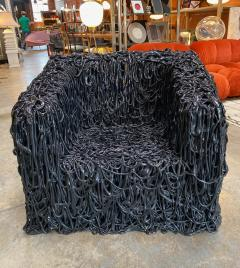 Gaetano Pesce Gaetano Pesce Black Silicone curb chair Senza Fine for Meritalia 2010 - 1200750