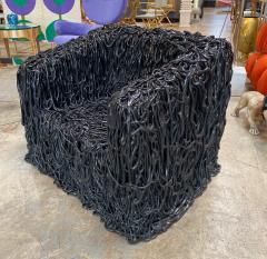 Gaetano Pesce Gaetano Pesce Black Silicone curb chair Senza Fine for Meritalia 2010 - 1200751