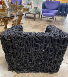 Gaetano Pesce Gaetano Pesce Black Silicone curb chair Senza Fine for Meritalia 2010 - 1200752