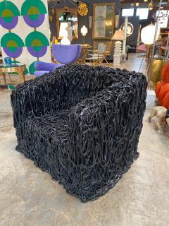 Gaetano Pesce Gaetano Pesce Black Silicone curb chair Senza Fine for Meritalia 2010 - 1200753