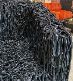 Gaetano Pesce Gaetano Pesce Black Silicone curb chair Senza Fine for Meritalia 2010 - 1200756