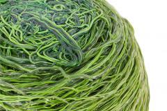 Gaetano Pesce Gaetano Pesce Green Resin Spaghetti Bowl for Fish Design 2009 - 845416