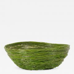 Gaetano Pesce Gaetano Pesce Green Resin Spaghetti Bowl for Fish Design 2009 - 846499