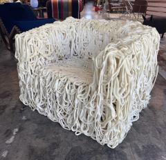Gaetano Pesce Gaetano Pesce White Silicone Curb Chair Senza Fine for Meritalia 2010 - 2010398