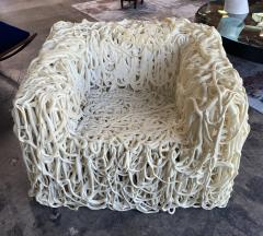 Gaetano Pesce Gaetano Pesce White Silicone Curb Chair Senza Fine for Meritalia 2010 - 2010402