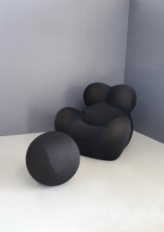 Gaetano Pesce Gaetano Pesce for B B Italia UP5 Black Lounge Chair and Ottoman restored 1970s - 1115631