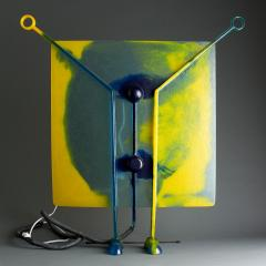 Gaetano Pesce Gel Resin and Metal Yellow and Blue Lamp on Feet - 364112