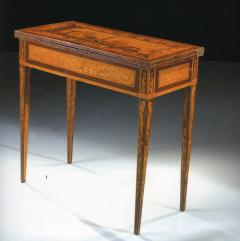 Gaetano Renoldi An Inlaid and Veneered Wood Neoclassic Card Table - 118017