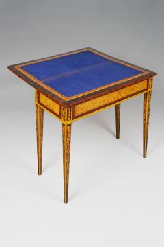 Gaetano Renoldi An Inlaid and Veneered Wood Neoclassic Card Table - 118018