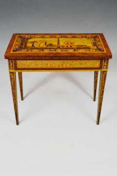 Gaetano Renoldi An Inlaid and Veneered Wood Neoclassic Card Table - 118019
