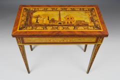 Gaetano Renoldi An Inlaid and Veneered Wood Neoclassic Card Table - 118020