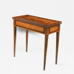 Gaetano Renoldi An Inlaid and Veneered Wood Neoclassic Card Table - 118511