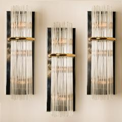 Gaetano Sciolari 1 of the 8 Large Modern Sciolari Glass Rod Sconces for Lightolier 1970 - 1109097