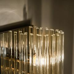 Gaetano Sciolari 1 of the 8 Large Modern Sciolari Glass Rod Sconces for Lightolier 1970 - 1109099
