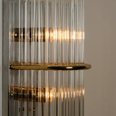 Gaetano Sciolari 1 of the 8 Large Modern Sciolari Glass Rod Sconces for Lightolier 1970 - 1109102
