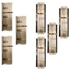 Gaetano Sciolari 1 of the 8 Large Modern Sciolari Glass Rod Sconces for Lightolier 1970 - 1109103