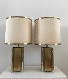 Gaetano Sciolari 1970s Pair of Table Lamps by Sciolari Roma - 376501