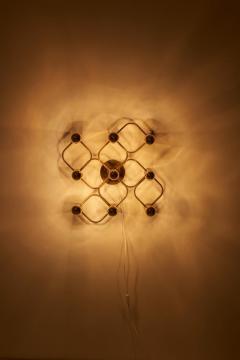 Gaetano Sciolari Brass 9 Light Sciolari Flush Mount Wall or Ceiling Lamp by Leola - 1190833