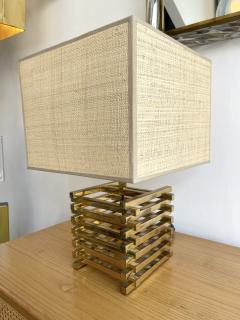 Gaetano Sciolari Brass Cage Lamp by Sciolari Italy 1970s - 1919141