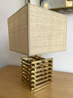 Gaetano Sciolari Brass Cage Lamp by Sciolari Italy 1970s - 1919142