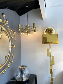 Gaetano Sciolari Brass Chandelier by Sciolari for Boulanger Belgium 1970s - 2139758