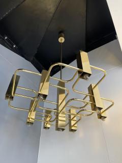 Gaetano Sciolari Brass Chandelier by Sciolari for Boulanger Belgium 1970s - 2139761