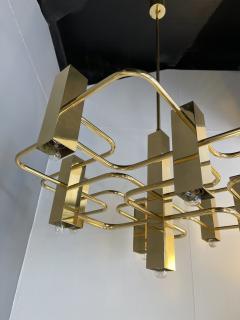Gaetano Sciolari Brass Chandelier by Sciolari for Boulanger Belgium 1970s - 2139762